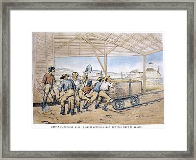 Australia Gold Mine, 1867 Framed Print by Granger