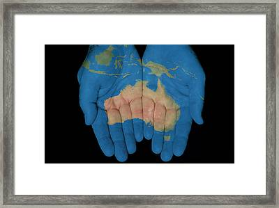 Australia In Our Hands Framed Print