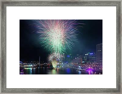 Australia, Sydney, Darling Harbor Framed Print by Walter Bibikow