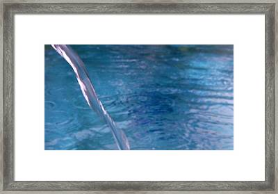 Australia - Weaving Thread Of Water Framed Print by Jeffrey Shaw
