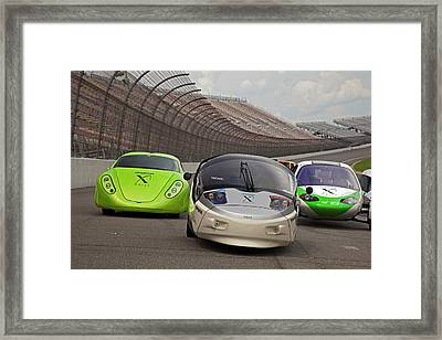 Automotive X Prize Competition Framed Print