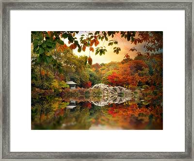 Autumn At Hernshead Framed Print by Jessica Jenney