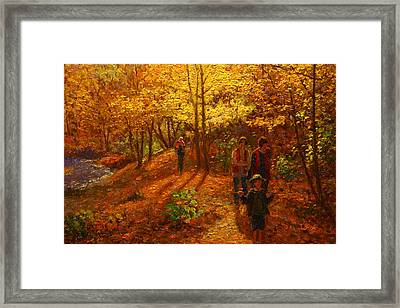 Autumn Bush Creek Track  Framed Print by Terry Perham