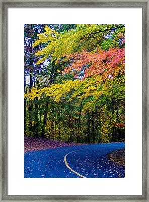 Autumn Country Road Framed Print by Alex Grichenko