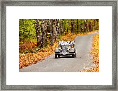 Autumn Drive Framed Print by Brian Jannsen