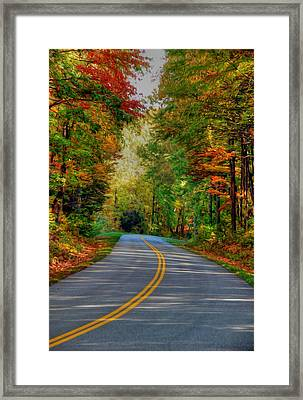 Framed Print featuring the digital art Autumn Drive by Kelvin Booker