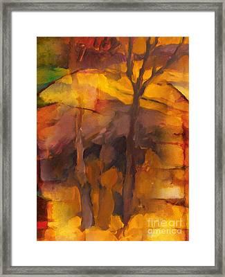 Autumn Gold Framed Print by Lutz Baar
