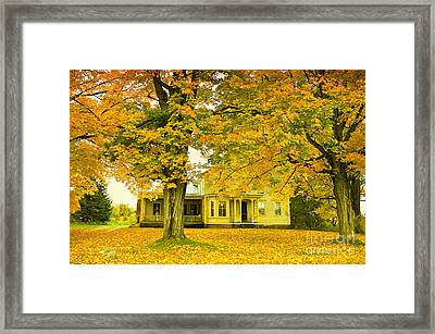 Autumn In Franklin Framed Print by Deborah Benoit
