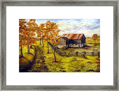 Autumn Shadows Framed Print