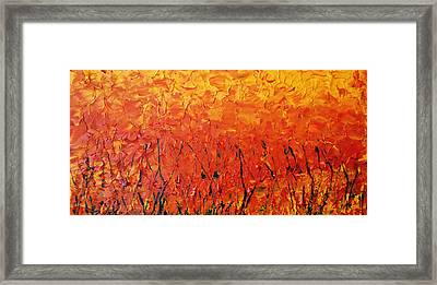 Autumn Winds Framed Print by Luz Elena Aponte