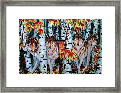 Autumn Wolves Framed Print by Ruanna Sion Shadd a'Dann'l Yoder