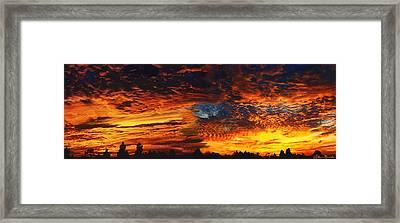 Awe Inspiring Sunset Framed Print by Ellen Henneke