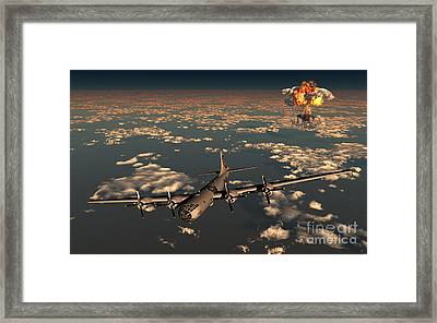 B-29 Superfortress Flying Away Framed Print