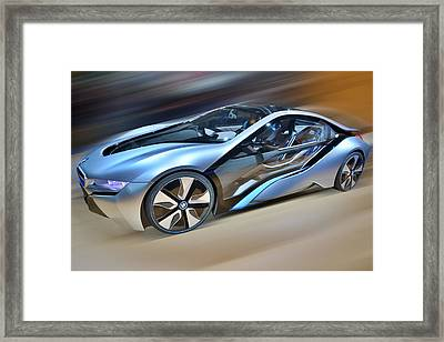 B M W  Edrive I8  Concept  2014 Framed Print