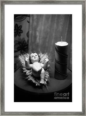 Baby Jesus Framed Print by Gaspar Avila
