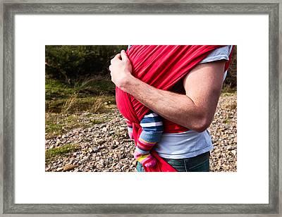 Baby Sling Framed Print