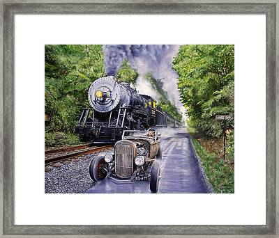 Backwoods Duel Framed Print