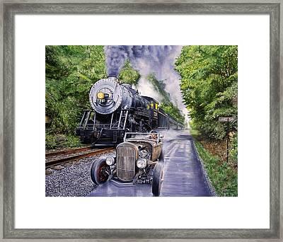 Backwoods Duel Framed Print