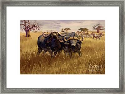 Framed Print featuring the digital art 2 Bad Duga Boys  by Rob Corsetti