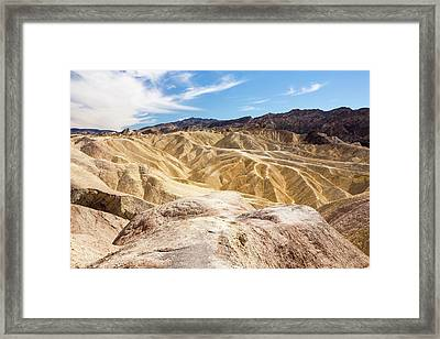 Badland Scenery At Zabriskie Point Framed Print