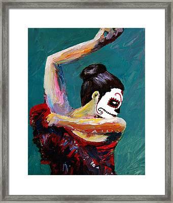 Bailan De Los Muertos Framed Print