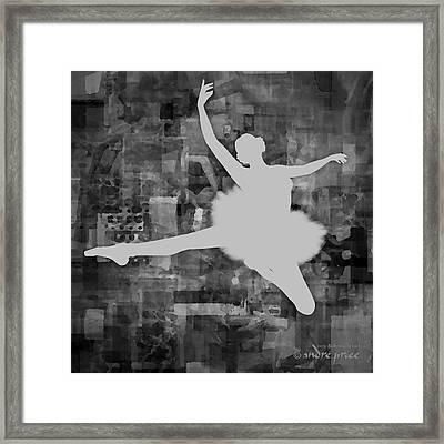 Ballerina Silhouette - Ballet Move 1 Framed Print by Andre Price