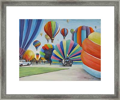Framed Print featuring the painting Balloon Fest by Oz Freedgood