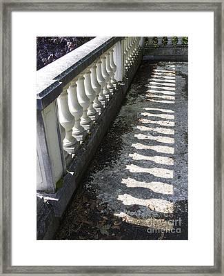 Balustrade Framed Print by Bernard Jaubert