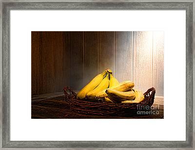 Bananas Framed Print by Olivier Le Queinec