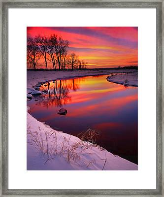 Bands Of Color Framed Print by Ray Mathis