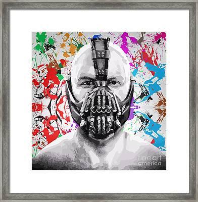 Bane The Dark Knight Rises Framed Print by Jeff Karnick