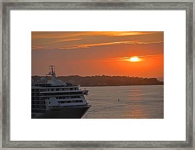 Bar Harbor Maine Sunrise  Framed Print