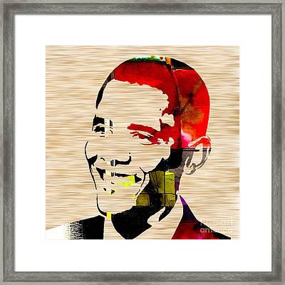 Barack Obama Framed Print by Marvin Blaine