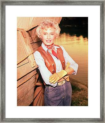 Barbara Stanwyck In The Big Valley Framed Print