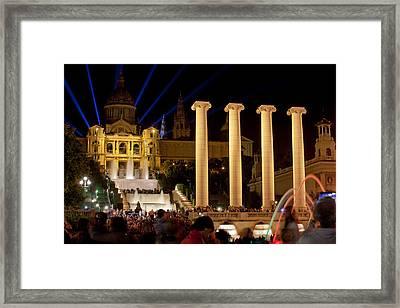 Barcelona By Night Framed Print