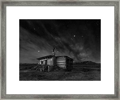 Bardenas Night Framed Print