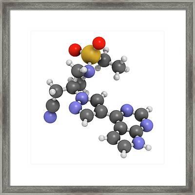 Baricitinib Janus Kinase Inhibitor Drug Framed Print by Molekuul