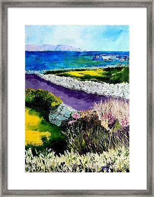 Barna Galway Bay Ireland Framed Print