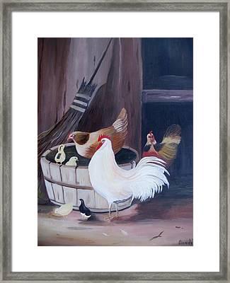 Barnyard Framed Print by Glenda Barrett
