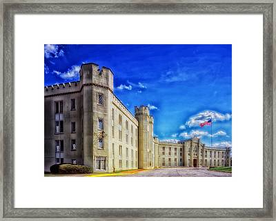 Barracks Building - Vmi Framed Print by Mountain Dreams