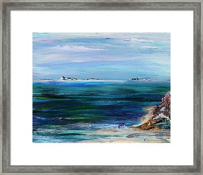 Barrier Islands Framed Print by Regina Valluzzi