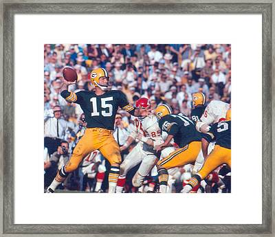 Bart Starr By Art Rickerby Framed Print
