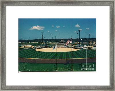 Baseball Diamond Framed Print