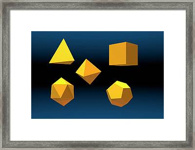 Basic Geometric Solids Framed Print