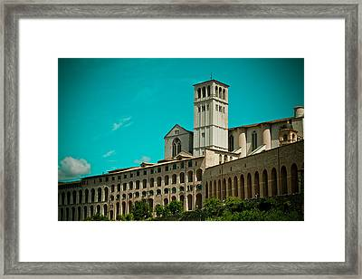 Basilica Of San Francesco Assisi  Framed Print by Raimond Klavins