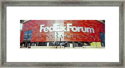 Basketball Stadium In The City, Fedex Framed Print by Panoramic Images