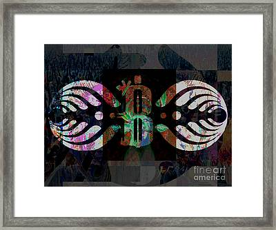 Bassnectar Symbol Remixed Framed Print by Andrew Kaupe