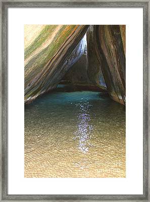 Bath Rocks  Framed Print by Carey Chen