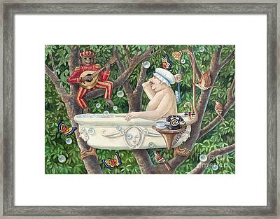 Bath Tub Serenade Framed Print by Ann Gates Fiser