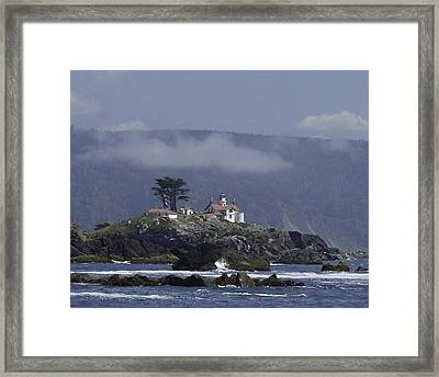 Framed Print featuring the photograph Battery Point Lighthouse by Betty Depee